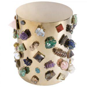 Табурет с полудрагоценными камнями Kelly Wearstler BEJEWELED STOOL  designed by Kelly Wearstler