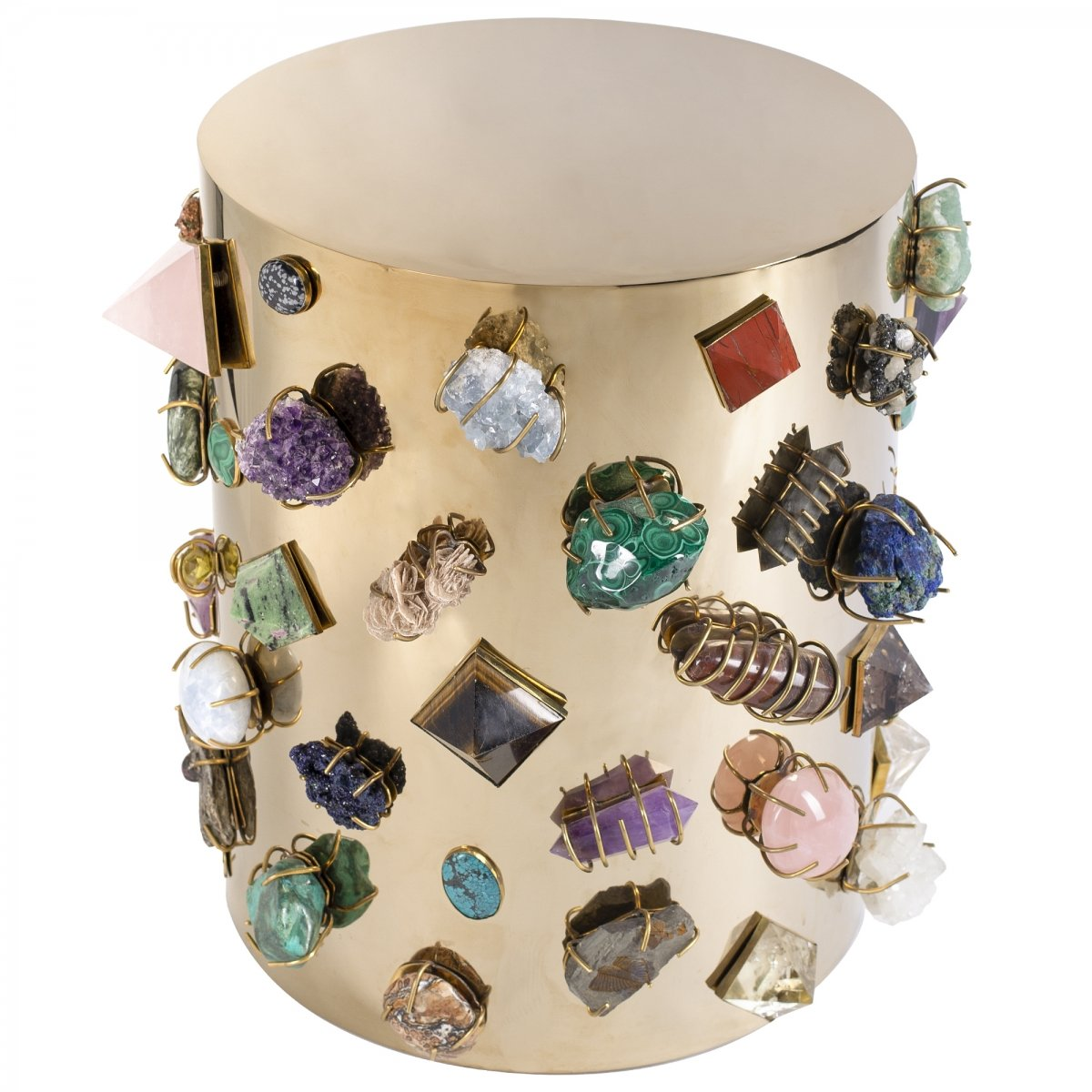 Табурет с полудрагоценными камнями Kelly Wearstler BEJEWELED STOOL  designed by Kelly Wearstler  - фото 1