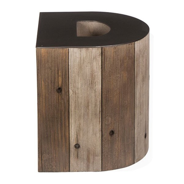 Столик Wooden Alphabet D Side Table  designed by Martin Waller  - фото 1