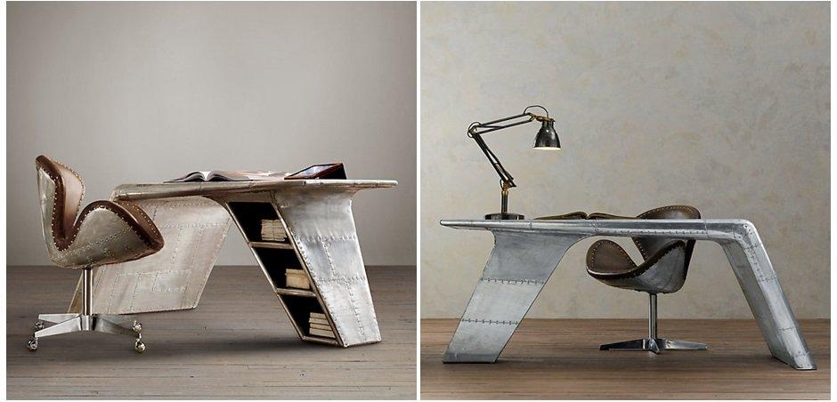Рабочий стол Aviator desk Restoration Hardware    - фото 5