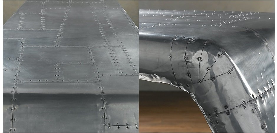 Рабочий стол Aviator desk Restoration Hardware    - фото 2
