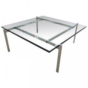 Журнальный стол PK61 Glass  designed by Poul Kjaerholm  in 1955