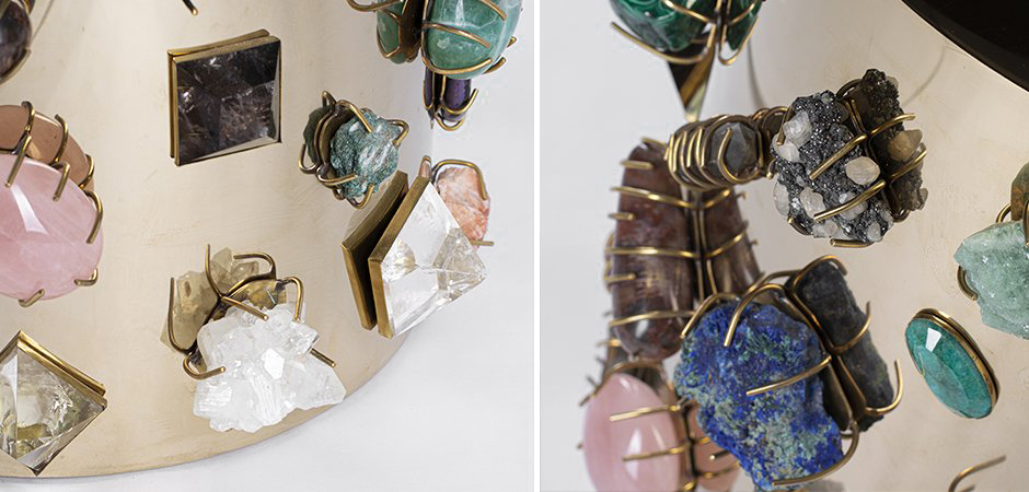 Табурет с полудрагоценными камнями Kelly Wearstler BEJEWELED STOOL  designed by Kelly Wearstler  - фото 2