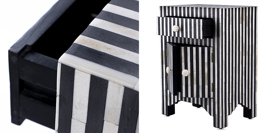 Тумба Inlaid Bone Stripes  - фото 2