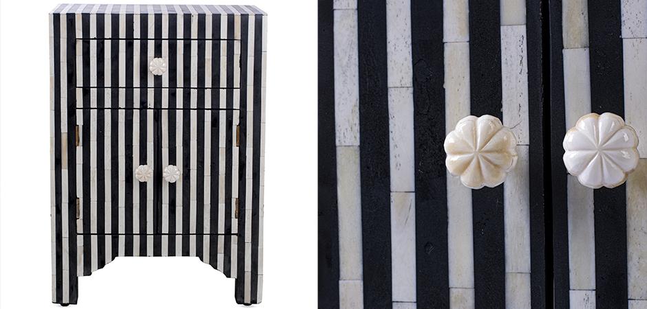 Тумба Inlaid Bone Stripes  - фото 3