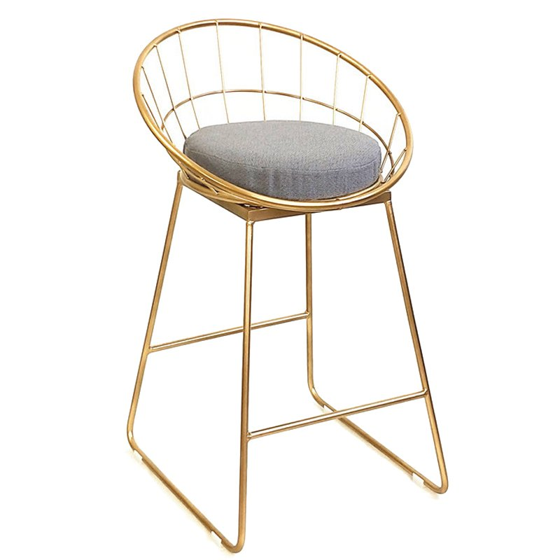 Барный стул Iron bar chair Golden   - фото 1
