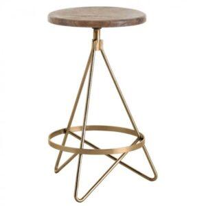 Барный стул Industrial Vintage Brass Iron Swivel Bar Stool
