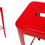 Барный стул Tolix red metal   - фото 2
