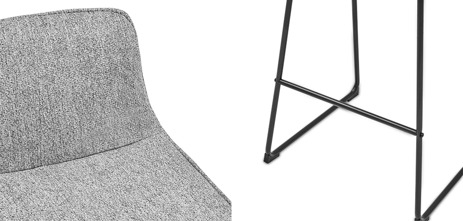 Барный стул Alonzo Bar Stool Gray  - фото 2