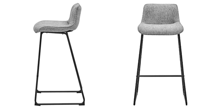 Барный стул Alonzo Bar Stool Gray  - фото 3
