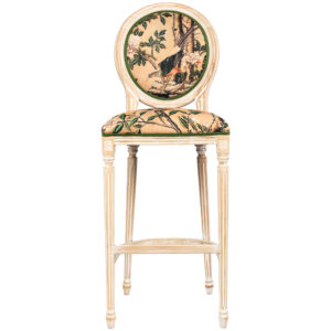 Барный стул Beige and Green Chinoiserie Bar Stool