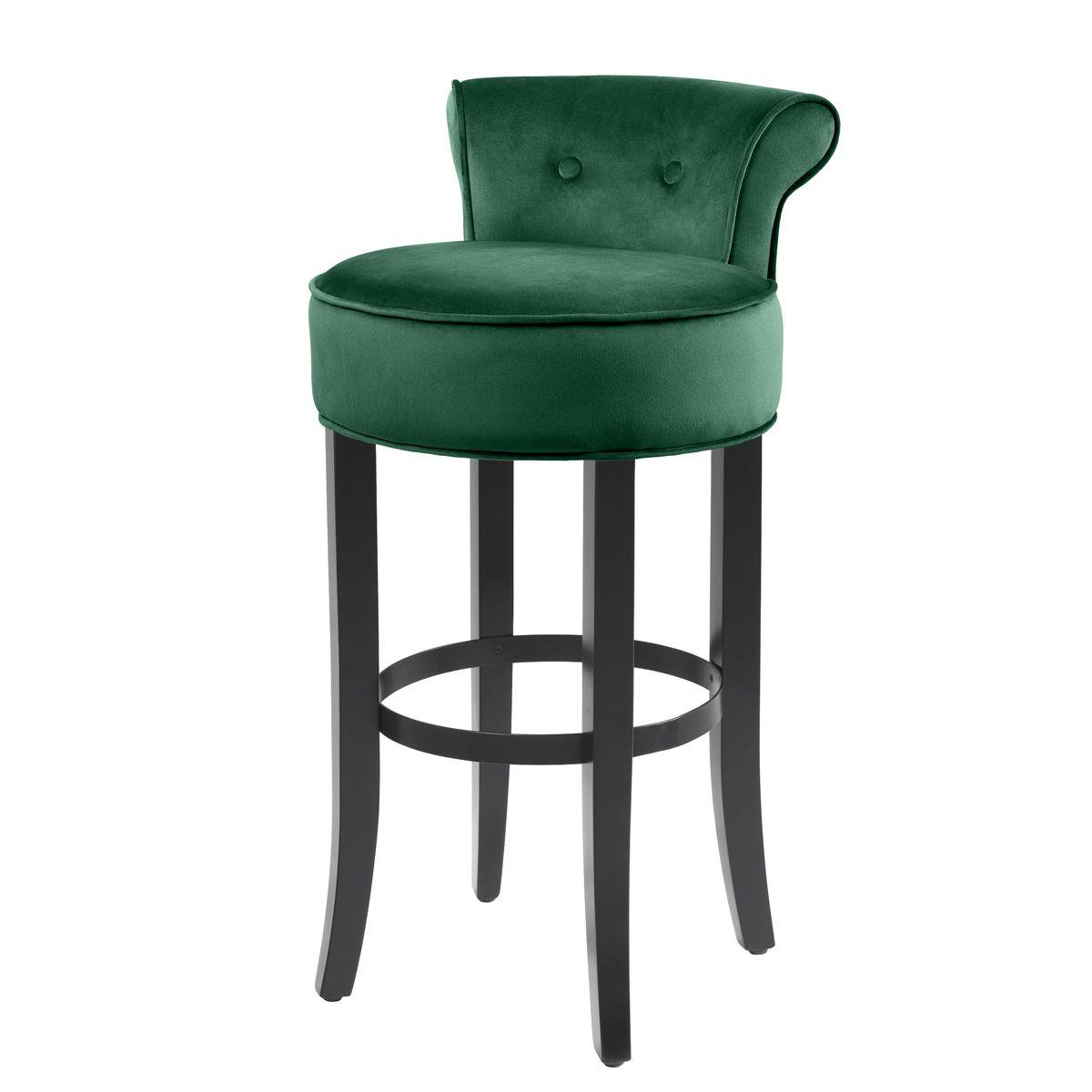 Барный стул Eichholtz Bar Stool Sophia Loren Green  - фото 1