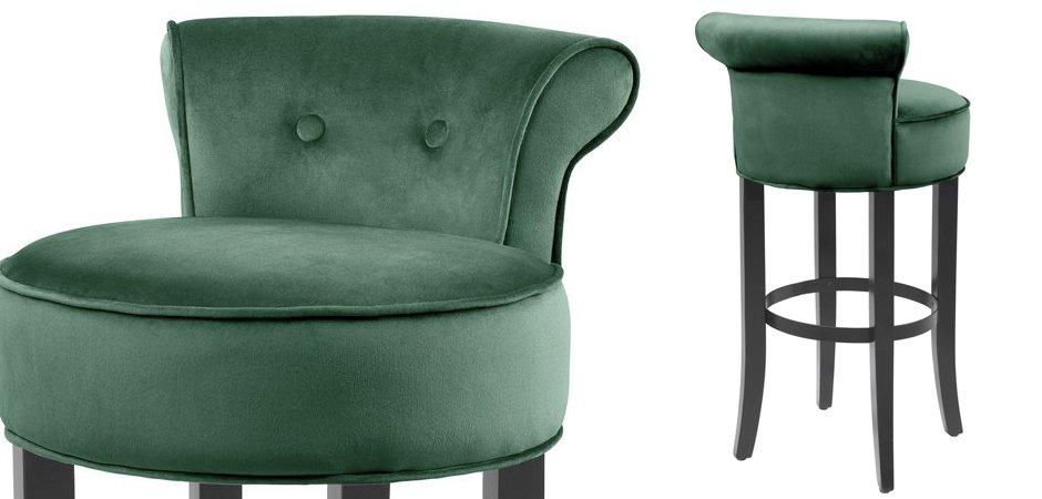 Барный стул Eichholtz Bar Stool Sophia Loren Green  - фото 2