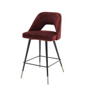 Полубарный стул Eichholtz Counter Bar Stool Avorio Bordeaux