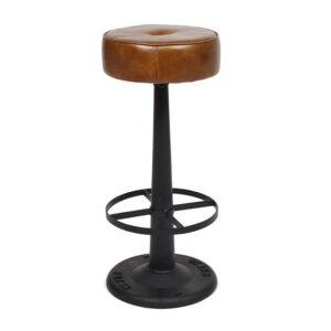 Барный стул Industrial leather bar stool