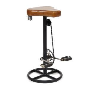 Барный стул с педалями от велосипеда Industrial leather bar stool with bicycle pedals