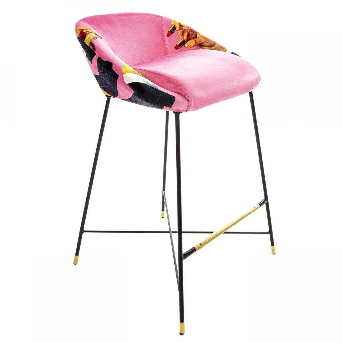 Барный стул Seletti High Stool Pink Lipsticks  - фото 1