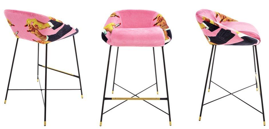 Барный стул Seletti High Stool Pink Lipsticks  - фото 2