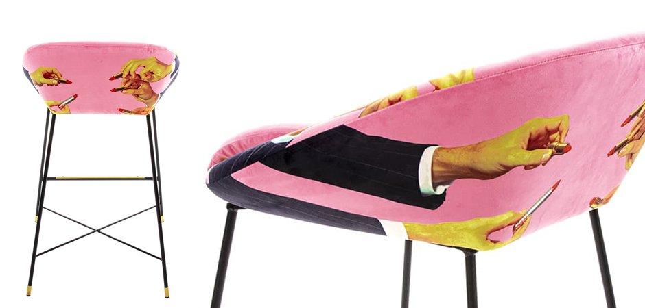 Барный стул Seletti High Stool Pink Lipsticks  - фото 3