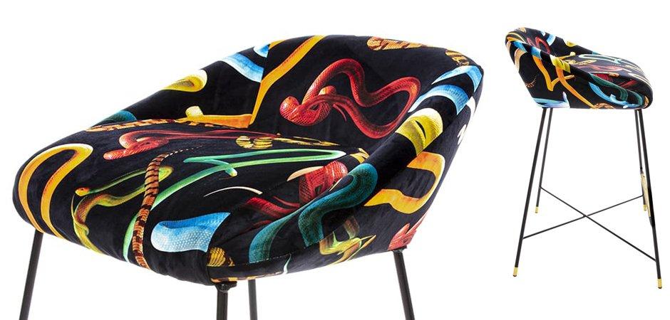 Барный стул Seletti High Stool Snakes  - фото 2
