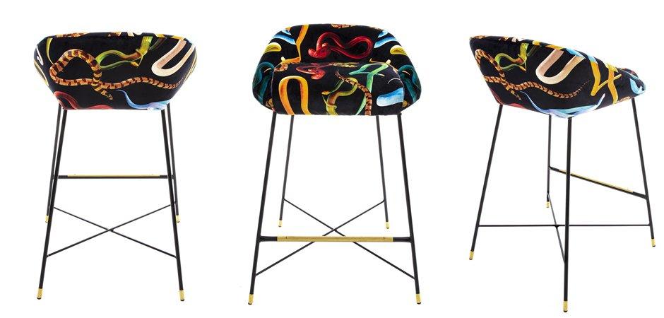 Барный стул Seletti High Stool Snakes  - фото 3