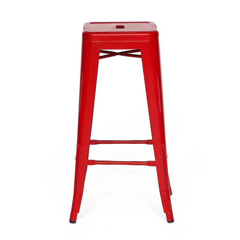 Барный стул Tolix red metal   - фото 1