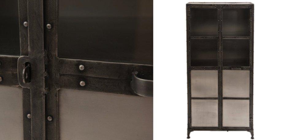 Буфет Industrial Steampunk Nickel Cabinet   - фото 2
