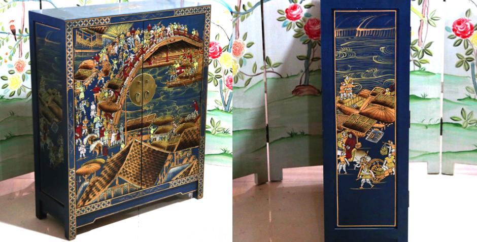 Китайский шкафчик для обуви Celestial Bridge   - фото 4