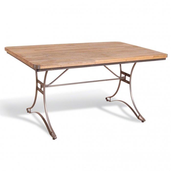 Cтол Industrial Metal Rust Rectangular Table   - фото 1