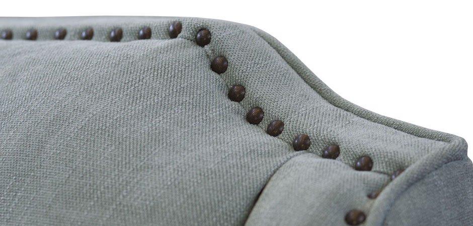 Диван бирюзовый трехместный Button   - фото 3