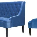 Диван Folket Sofa velour blue  - фото 2