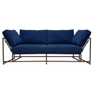 Двухместный диван Indigo Denim and copper Two Seat Sofa  designed by Stephen Kenn and Simon Miller