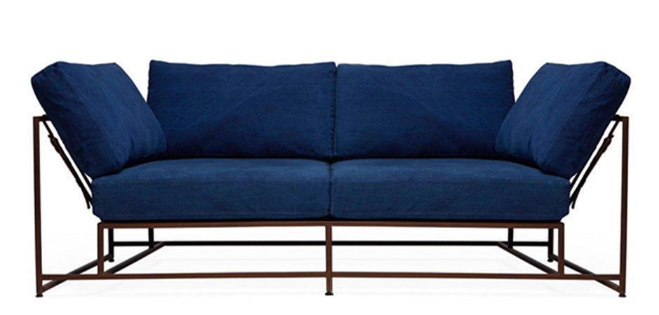 Двухместный диван Indigo Denim and copper Two Seat Sofa  designed by Stephen Kenn and Simon Miller  - фото 3