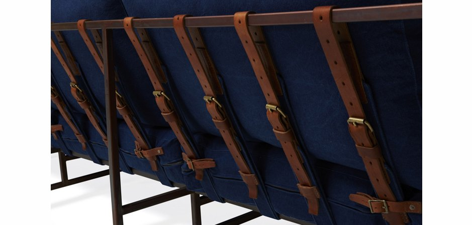 Двухместный диван Indigo Denim and copper Two Seat Sofa  designed by Stephen Kenn and Simon Miller  - фото 2