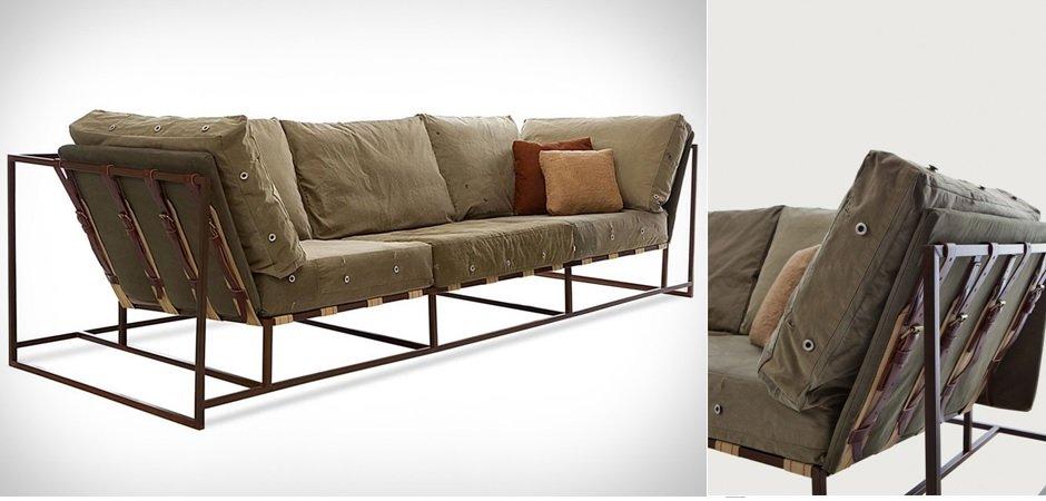 Диван Inheritance Sofa Olive Military Fabric  designed by Stephen Kenn and Simon Miller  - фото 2