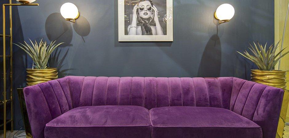 Диван Art Deco Purple Sofa  - фото 2