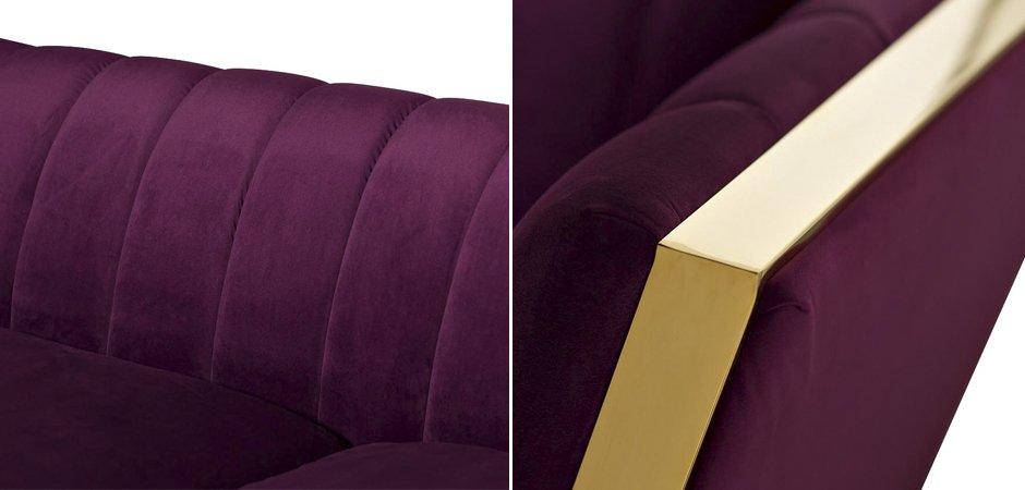 Диван Art Deco Purple Sofa  - фото 3