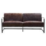 Диван Brutal Brown Vintage Leather Sofa  - фото 1