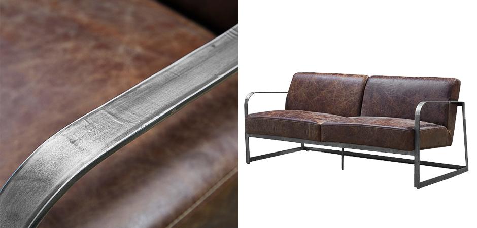 Диван Brutal Brown Vintage Leather Sofa  - фото 2