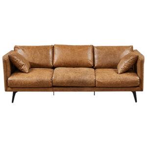Диван Caramel Leather Triple Sofa
