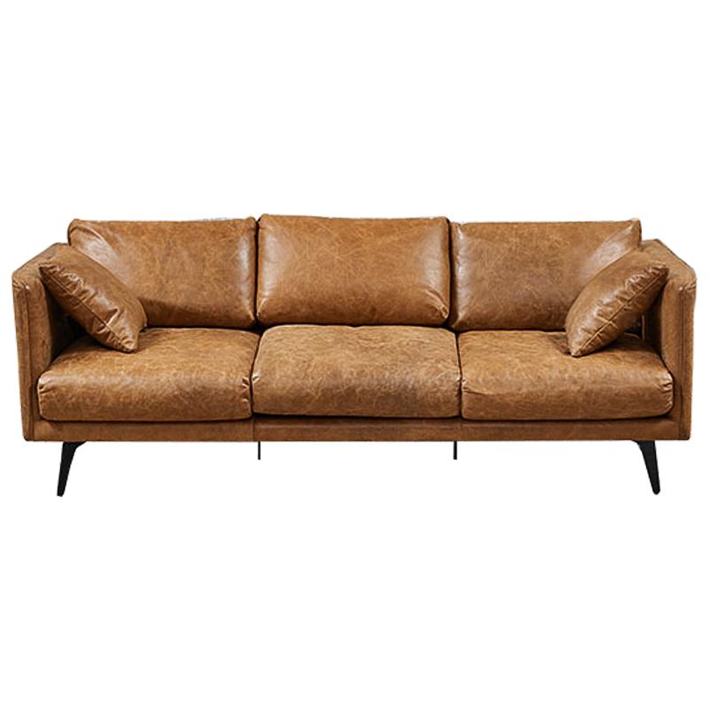 Диван Caramel Leather Triple Sofa  - фото 1