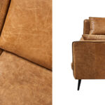 Диван Caramel Leather Triple Sofa  - фото 3