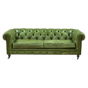 Диван Chesterfield leather Sofa green