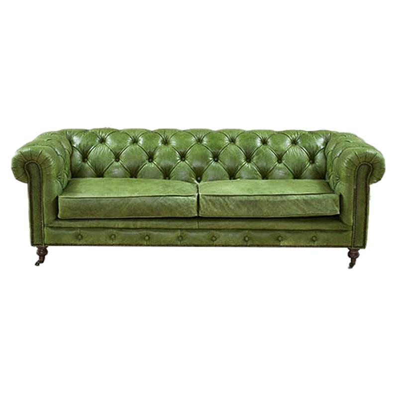 Диван Chesterfield leather Sofa green  - фото 1