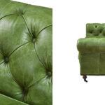 Диван Chesterfield leather Sofa green  - фото 3