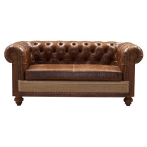 Диван Deconstructed Chesterfield Sofa double Brown leather