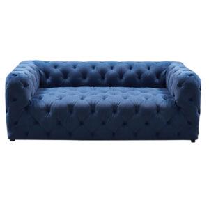 Диван Soho tufted blue velor