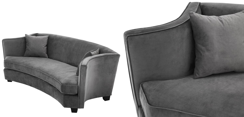 Диван Eichholtz Sofa Jiulietta Grey 3  - фото 2