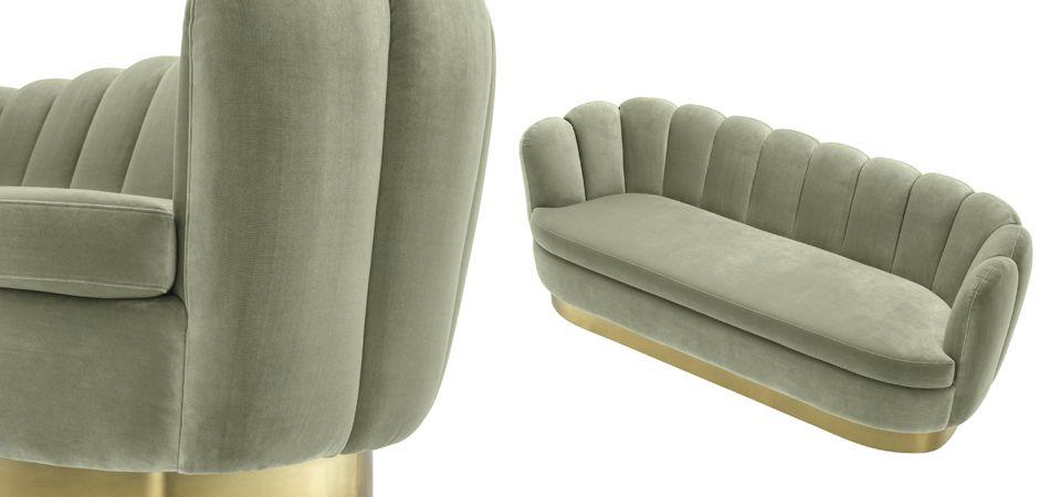 Диван Eichholtz Sofa Mirage pistache green  - фото 2