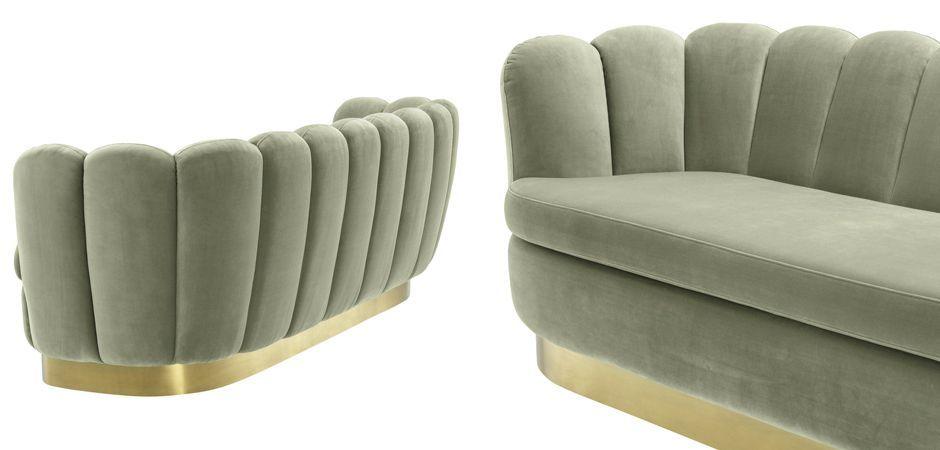 Диван Eichholtz Sofa Mirage pistache green  - фото 4